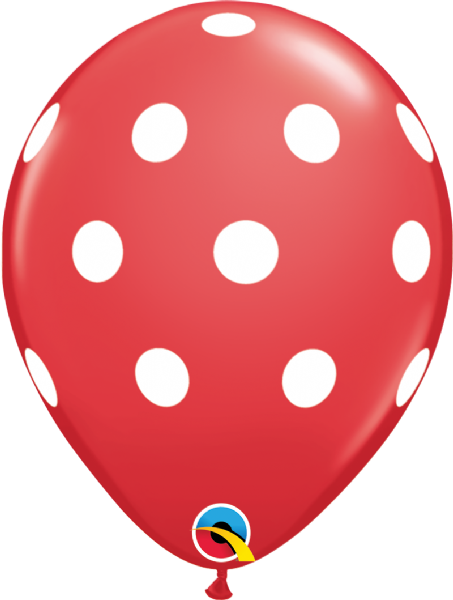 Big Polka Dot Latex Balloon - Red